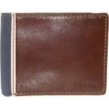 Geanta Fossil Barbati Elgin Traveler Leather Wallet - Maro