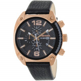 Ceas Diesel barbatesc Overflow DZ4297 negru Leather Quartz