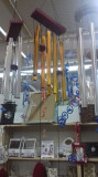 Clopotei de vant cu 8 tuburi metalici aurii rectangulari