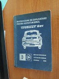 Instructiuni de exploatare pentru autoturismul TRABANT 601
