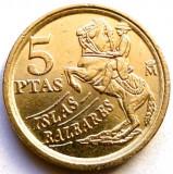 SPANIA , INSULELE BALEARE , 5 PESETAS 1997, Europa