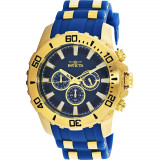 Ceas Invicta barbatesc Pro Diver 22556 auriu Silicone Japanese Chronograph Diving