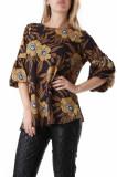 Bluza cu maneca trei sferturi maro de dama, Sexy Woman, 69123, S, sexy woman