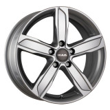 Jante SEAT LEON 8J x 18 Inch 5X112 et39 - Mak Stadt Silver - pret / buc, 8, 5