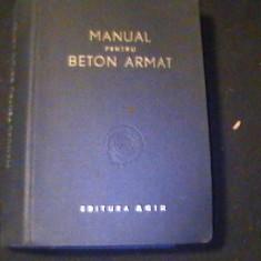 MANUAL PENTRU BETON ARMAT-TRAD-ING. CRISTEA NICULESCU-596 PG-, Alta editura