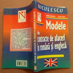 Modele de contracte de afaceri in romana si engleza - A. Dobrescu, Fulvia Turcu, Niculescu, 2003