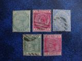 LOT GIBRALTAR REGINA VICTORIA 1886 / 89, Stampilat