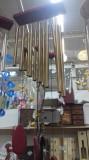 Clopotei de vant cu 12 tuburi metalice aurii