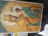 Icoana veche pictata pe lemn 27//20 cm