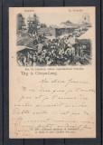 CAMPULUNG   TARG  IN CAMPU-LUNG  FOTO  FR. DUSCHEK   CLASICA   CIRCULATA  1900, Printata