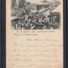 CAMPULUNG   TARG  IN CAMPU-LUNG  FOTO  FR. DUSCHEK   CLASICA   CIRCULATA  1900