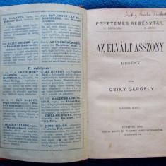 Csiky Gergely(Pâncota, Arad 1842)Femeia divortata-Az elvált asszony. Bud.1888.