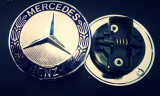 Emblema sigla capota Mercedes-Benz 57mm