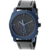 Ceas Fossil barbatesc Machine FS5361 albastru Leather Japanese Quartz Fashion #