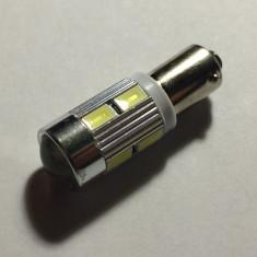 Led auto BAX9S,  10 SMD 5630, 12 V,  ALB, Universal