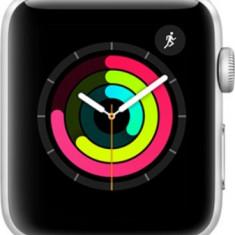 Apple Watch Series 3 MQL02 42mm Aluminium Silver Plastic Sport Band Fog (LL-A) (190198509314) - USA Spec with warranty, Aluminiu, Argintiu