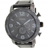 Ceas Fossil barbatesc Nate JR1354 negru Leather Analog Quartz