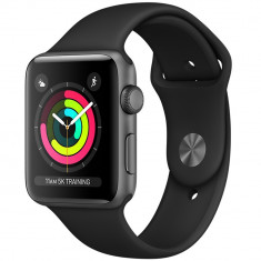 Watch 3 GPS Aluminiu Negru 42MM Si Curea Sport Neagra, Apple