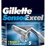 Rezerva aparat de ras Gillette Sensor Excel 5 buc #