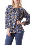Bluza cu maneca lunga albastra de dama, Sexy Woman, 69263, S, sexy woman