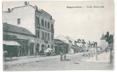4213 -  SALONTA, Bihor, Street Stores, Romania - old postcard - unused foto