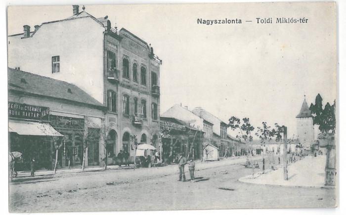 4213 -  SALONTA, Bihor, Street Stores, Romania - old postcard - unused