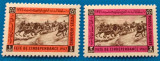 Afganistan-1967-'Pictura-ziua independentei''-Serie completa -2 val -MNH, Stampilat