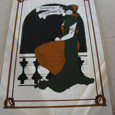 Pictura pe sticla in stil Art Nouveau (2)