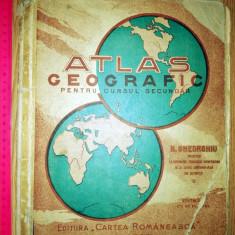 ATLAS GEOGRAFIC PENTRU CURSUL SECUNDAR -CARTEA ROMANEASCA - HARTI ROMANIA MARE