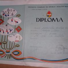 Diploma pionieri RSR,Diploma veche Pionier CEL MAI BUN RECITATOR,T.GRATUIT