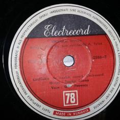 DISC antic,PLACA DE GRAMOFON,PATEFON,AHINORA KUMANOVA,GICA PETRESCU,de Colectie, Alte tipuri suport muzica, Columbia