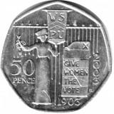 "Marea Britanie moneda 50 Pence 2003 ""Women Vote"" - XF, Europa, Cupru-Nichel"