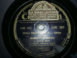 DISC antic,PLACA DE GRAMOFON,PATEFON,Marita Lataretu,timbrat LA BARBU LAUTARU, Alte tipuri suport muzica, Columbia