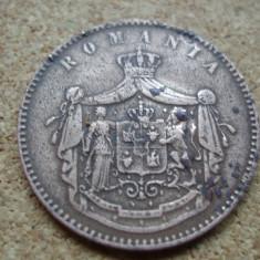 ROMANIA - 10 BANI 1867 WATT , CAROL  I ,  L5.69