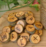 Set rune lemn +gratis cartea totul despre rune, Christina Jewelry
