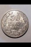 50 Bani 1885 RAR!!! CALITATE ! Piesa de colectie!, Argint