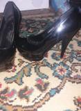 Pantofi cu platforma marca JENNIKA, 41 1/3, Negru, Julia