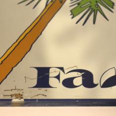 Reclama veche pe oglinda - cosmetice sapun, parfum Fa- Germania - anii '70- '80