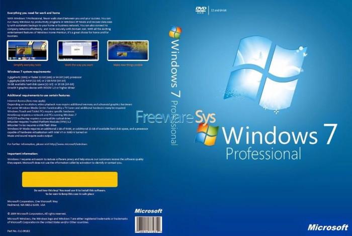 LICENȚĂ / LICENTA Windows 7 Professional + Antivirus Gratuit