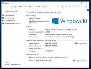 LICENȚĂ / LICENTA Windows 10 Home + Antivirus Gratuit