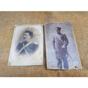Doua fotografii vechi, cu militari.