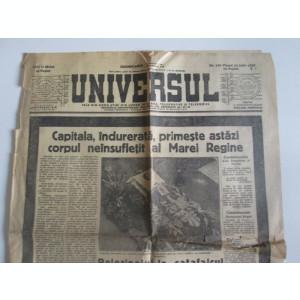 Rar! Ziarul Universul(doar 4 pagini) din 22-6-1938,cu funeraliile Reginei Maria