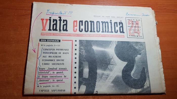 ziarul viata economica 12 iunie 1964-foto uziana vulcan din bucuresti