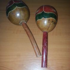 Instrument muzical exotic- maraca /rumba shaker pereche -2 bucati