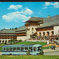 CPI B 10775 CARTE POSTALA - BRASOV. HOTEL SPORT, AUTOBUZ, Circulata, Fotografie