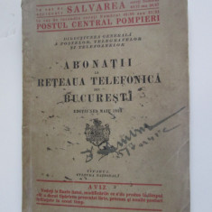 Rara! Carte cu abonatii la reteaua telefonica din Bucuresti-Maiu 1924