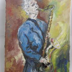 Saxofonul-pictura ulei pe panza;, Portrete, Altul