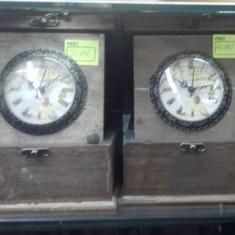 Ceas de masa retro cutie lemn