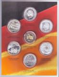 Germania 6x10 euro Argint + 2 euro 2010 - monede comemorative in folder oficial, Europa