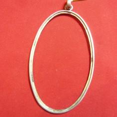 Rama veche ovala din argint ,nemarcat ,h= 8,5 cm